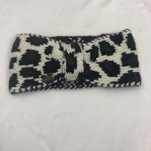 Betsey Johnson Animal Print Crochet Headband